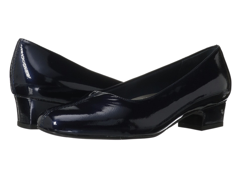 Trotters - Doris Pearl (Baltic Navy Pearlized Patent Leather) Women