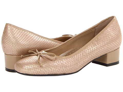 Trotters - Demi (Nude Snake Leather/Patent) Women's 1-2 inch heel Shoes