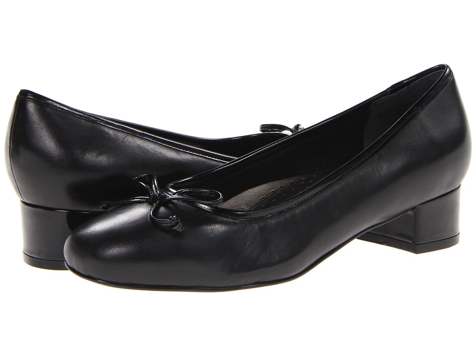 Trotters - Demi (Black Burnished Soft Kid) Women