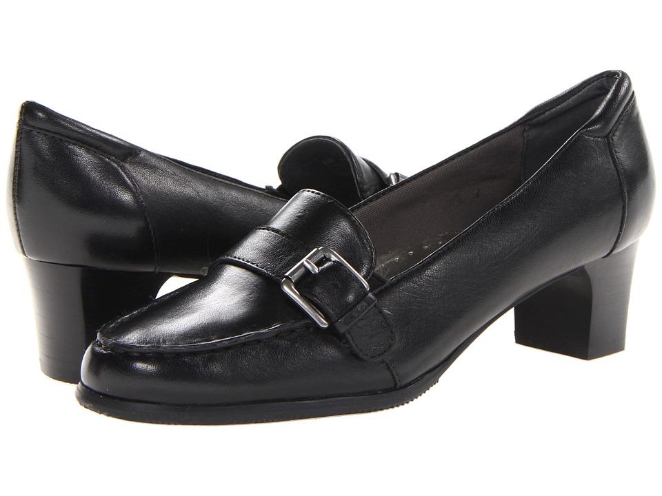 Trotters - Gwen (Black Burnished Soft Kid Leather) Women