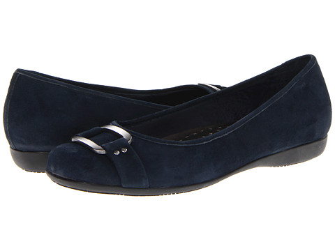 Trotters - Sizzle Signature (Dark Blue Kid Suede) Women's Flat Shoes