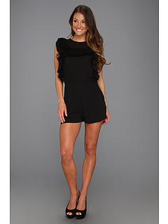 SALE! $149.99 - Save $78 on BCBGMAXAZRIA Agnes Short Romper (Black) Apparel - 34.21% OFF $228.00