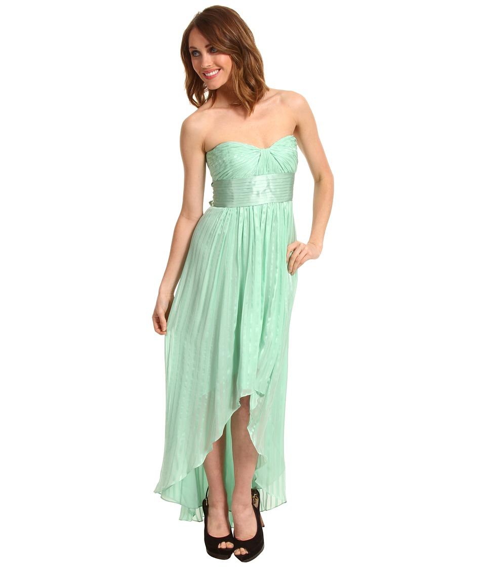 BCBGMAXAZRIA - Petite Alicia Strapless High-Low Gown (Opaline Green) Women's Dress