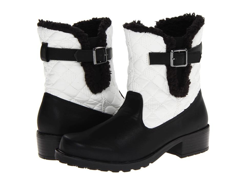 Trotters Blast III (Black/White Waxy Faux Leather) Women