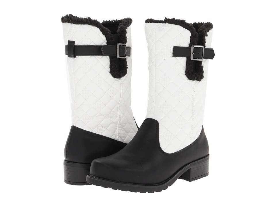 Trotters - Blizzard III (Black/White Waxy Faux Leather) Women's Boots