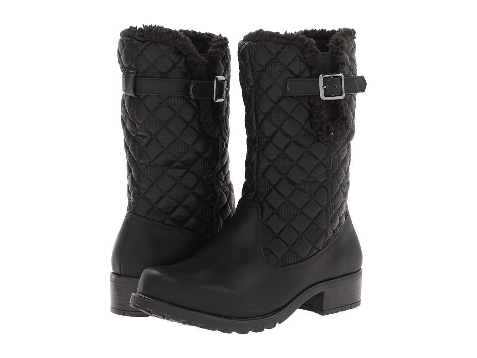 Trotters - Blizzard III (Black Waxy Faux Leather) Women's Boots