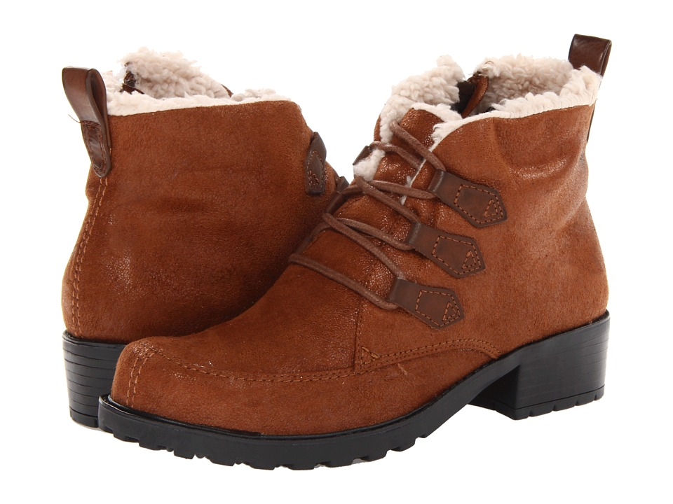 Trotters - Snowflakes III (Cognac) Women's Lace-up Boots
