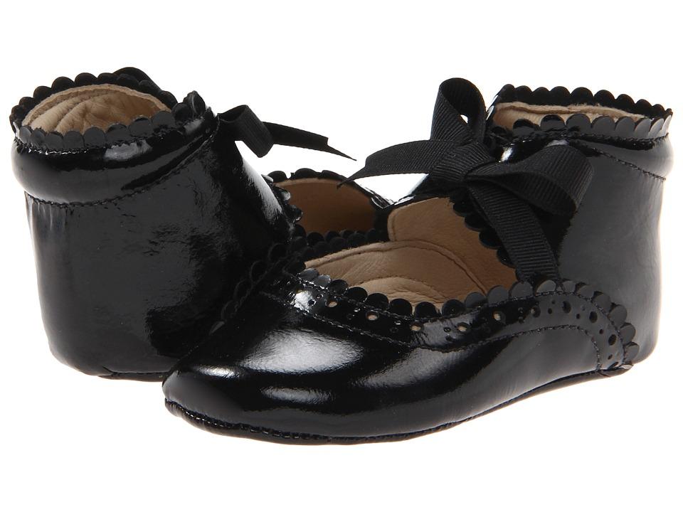 Elephantito Sabrinas (Infant/Toddler) (Black Patent) Girls Shoes