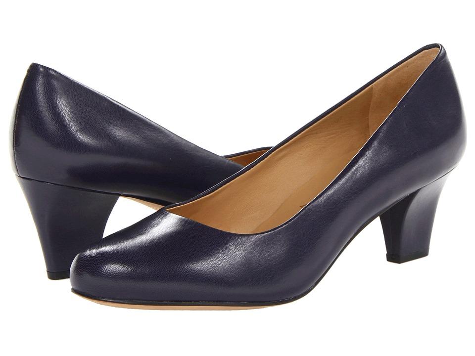 Trotters - Penelope (Blue Glazed Kid Leather) High Heels