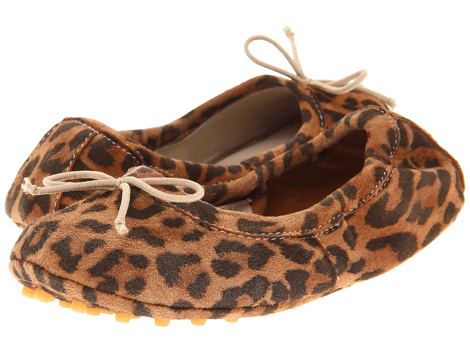 Elephantito - Alessia Flat (Toddler/Little Kid/Big Kid) (Leopard) Girl's Shoes