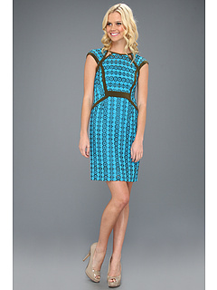 SALE! $114.99 - Save $263 on Nanette Lepore Castille Dress (Tile Blue Multi) Apparel - 69.58% OFF $378.00