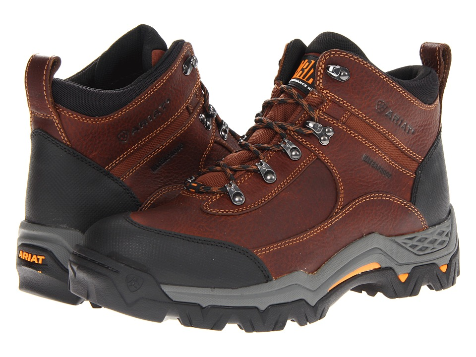 Ariat - WorkHog Trek 5 H20 (Oiled Brown) Men's Lace-up Boots