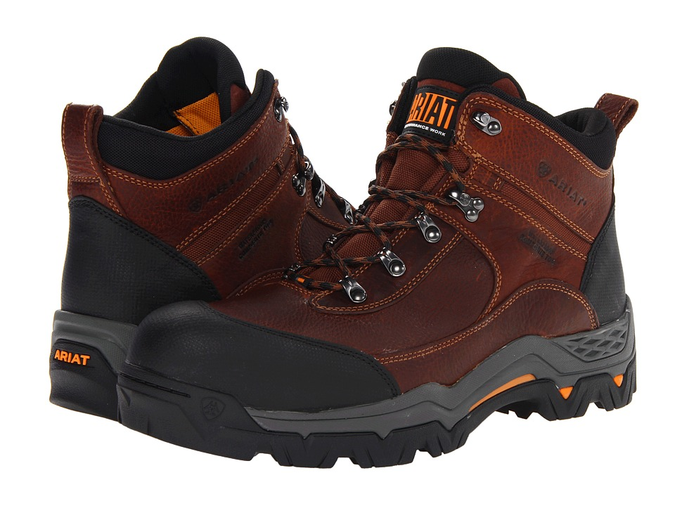 Ariat - WorkHog Trek 5 H20 Composite Toe (Oiled Brown) Men's Lace-up Boots