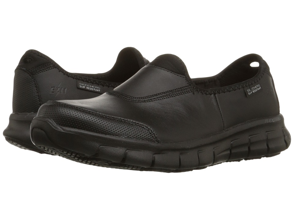 SKECHERS Work - Sure Track (Black) Women's Shoes