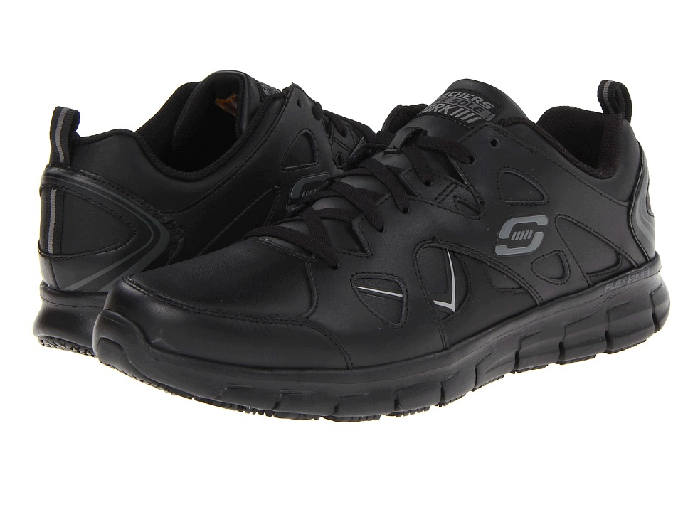 SKECHERS Work - Synergy - Tal (Black/Graphite) Men's Shoes