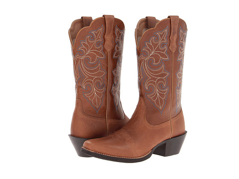 Ariat - Round Up Square Toe (Dusty Dune/Tan) Cowboy Boots