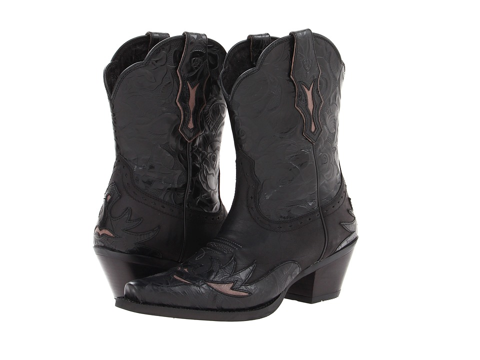 Ariat Dahlia (Pitch Black/Ebony Floral) Cowboy Boots