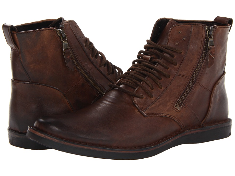 John Varvatos - Barrett Side Zip Boot (Mocha) Men's Boots