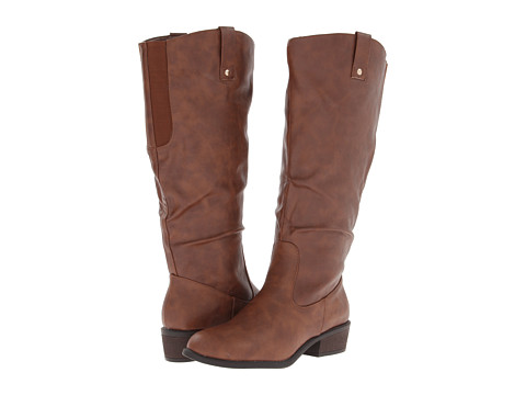 Pink & Pepper - Reggie (Wide Calf) (Brown) Women's Boots