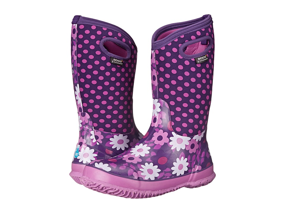 Bogs Kids - Classic Flower Dot (Toddler/Little Kid/Big Kid) (Plum) Girls Shoes