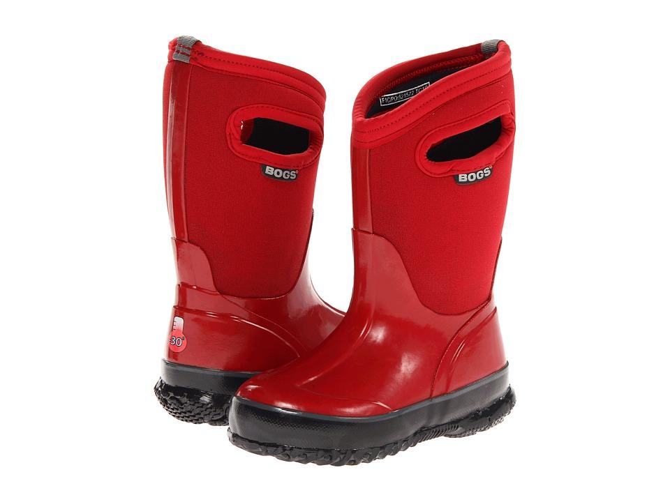 Bogs Kids - Solids (Toddler/Little Kid/Big Kid) (Red) Kids Shoes