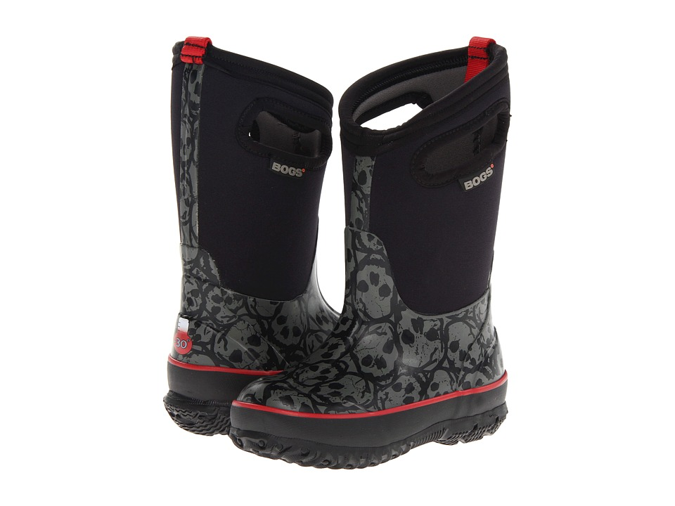 Bogs Kids Skulls Boys Shoes (Black)