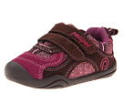 pediped Deirdre Grip 'n' Go (Toddler) (Brown/Berry Suede/Mesh)