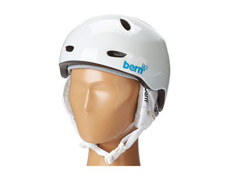 Bern - Berkeley Winter (Gloss White w/White Liner) Snow/Ski/Adventure Helmet