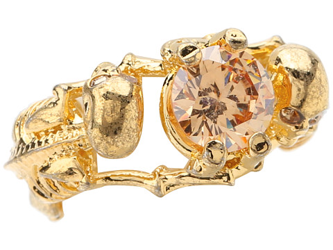 Alexander McQueen - 2 Skeletons Ring (Gold Metallic) Ring