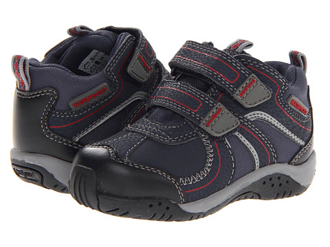 pediped - Boulder Flex (Toddler/Little Kid) (Navy Synthetic/Fabric) Boy's Shoes
