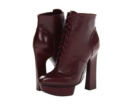 Alexander McQueen - Geo Boot 130 (Oxblood/Oxblood) Women's Boots