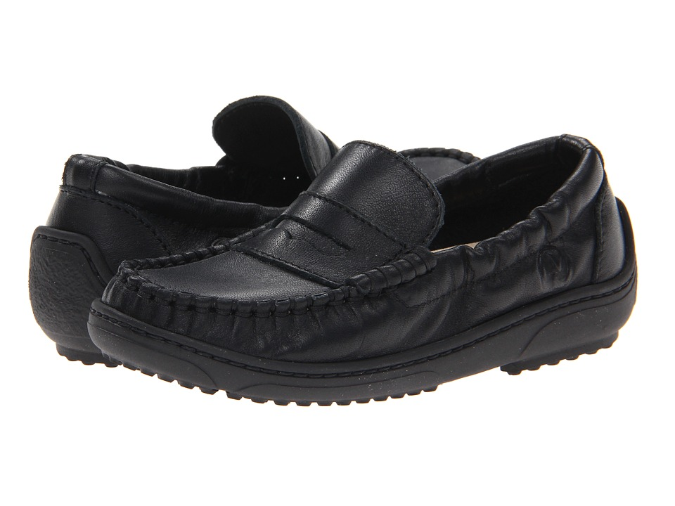 Naturino - Nat. Polo FA13 (Toddler/Little Kid/Big Kid) (Black Leather) Boy's Shoes