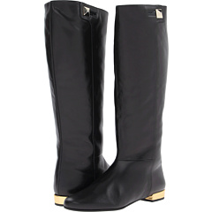 Kate Spade New York Oliver (Black Patent Gold Specchio Heel) Footwear
