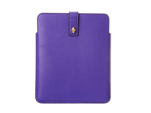 Alexander McQueen Wrong Sketch Tablet Holder (Purple) Handbags