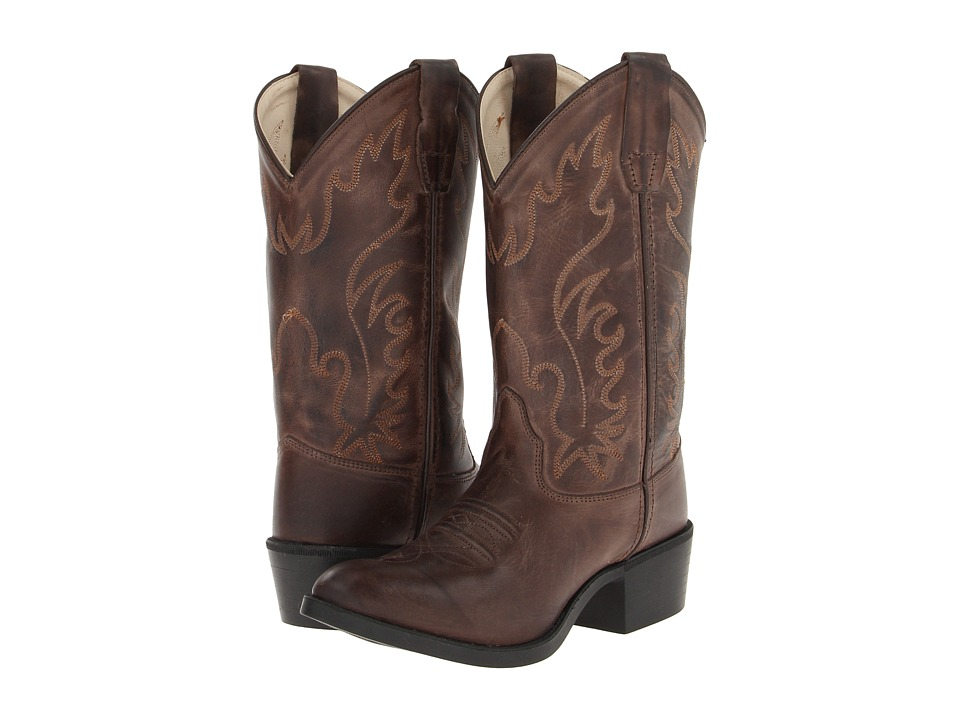 Old West Kids Boots - CCY8134 (Big Kid) (Brown Canyon) Cowboy Boots