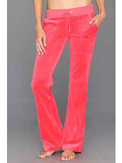 SALE! $51.99 - Save $74 on Juicy Couture Velour Bling Bootcut Pant (Geranium) Apparel - 58.74% OFF $126.00