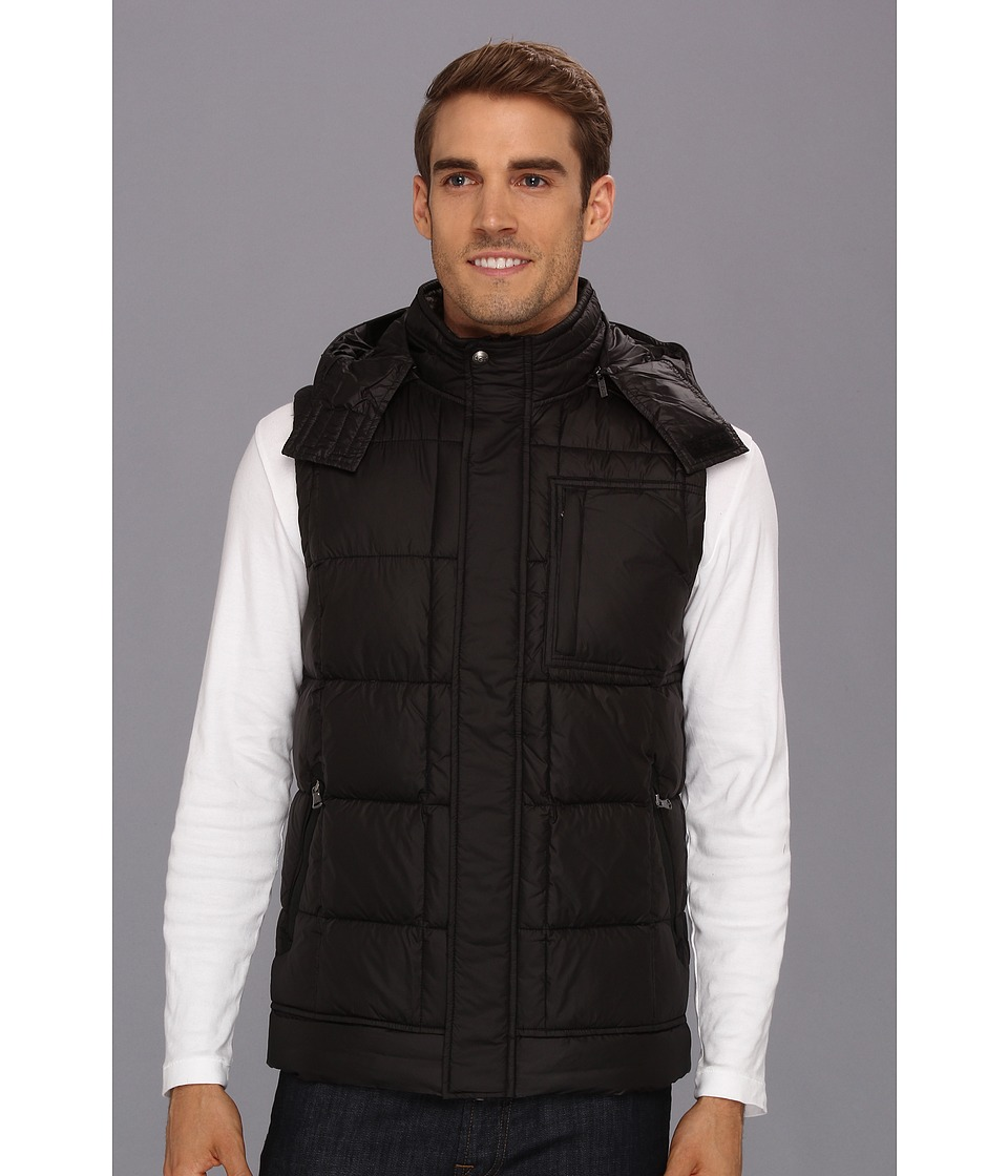 UGG - Poia II Vest (Black/Charcoal) Men's Vest