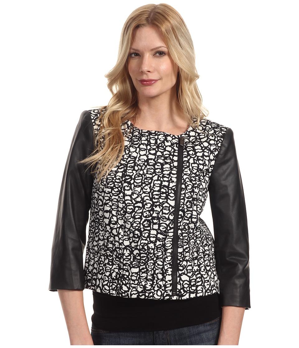 Manoukian - Woven Sportswear Jacket LAL4F549 (Black Combo) Women