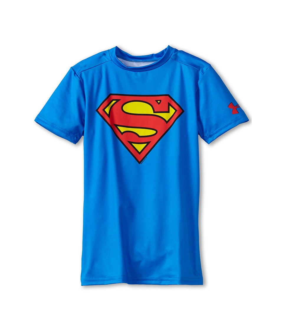 Under Armour Kids - Alter Ego DC(r) Comics Superman S/S Fitted Shirt (Little Kids/Big Kids) (Royal) Boy's Short Sleeve Pullover