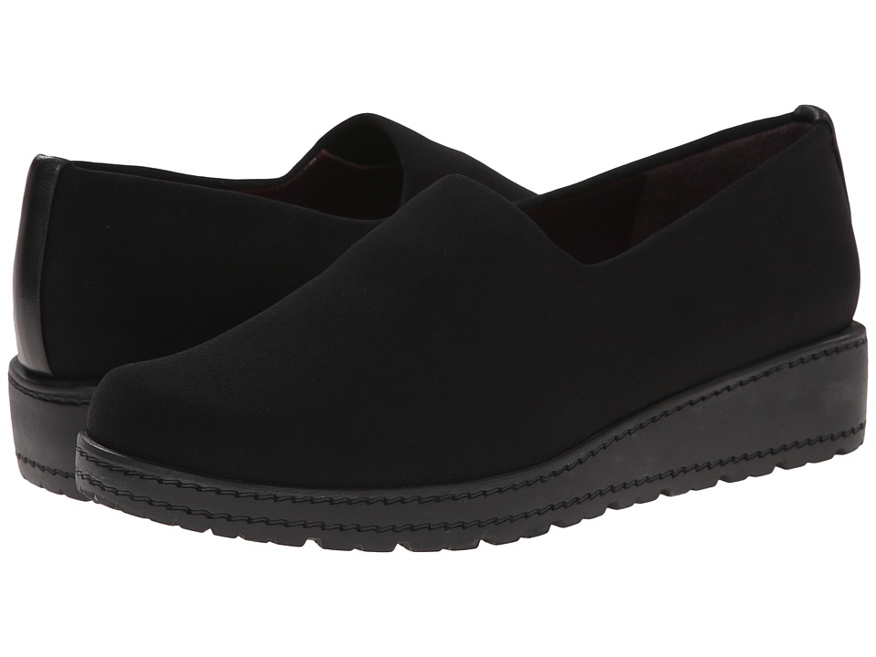 Stuart Weitzman - Sofa (Black Micro Stretch) Women's Slip on Shoes