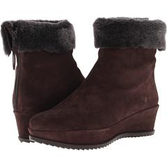 Stuart Weitzman Warmer (Coffee Velour) Footwear