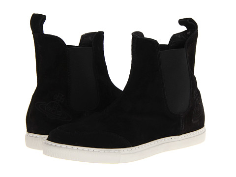 Vivienne Westwood - Suede Pull-On Trainer (Suede Black) Men's Slip on Shoes