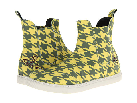 Vivienne Westwood - Dogstooth Pull-On Trainer (Dogtooth Yellow) Men's Slip on Shoes