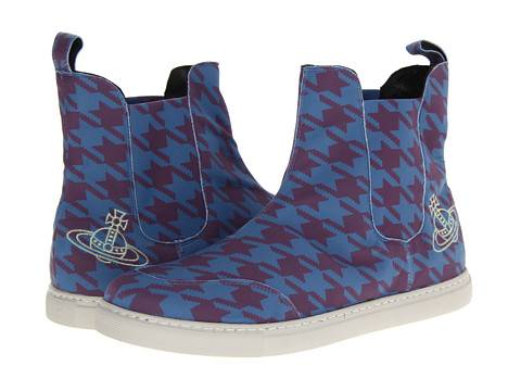 Vivienne Westwood - Dogstooth Pull-On Trainer (Dogtooth Blue) Men's Slip on Shoes