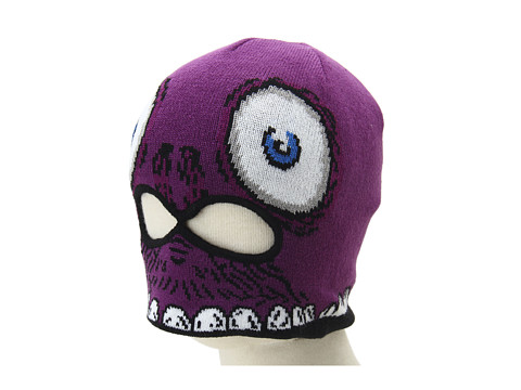 Volcom - Strange Face Mask Beanie (Big Kids) (Purple) Beanies