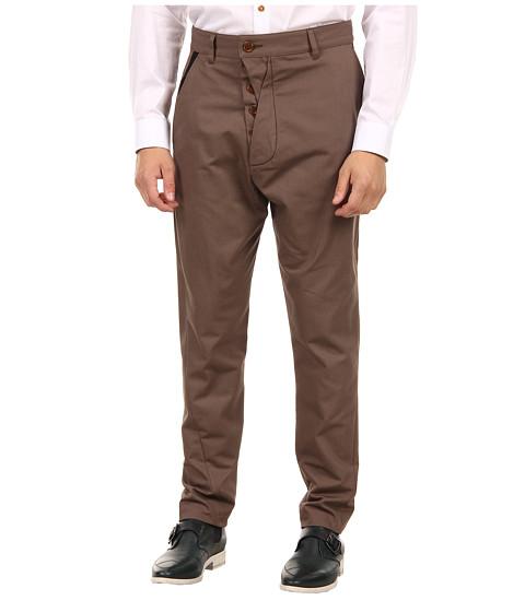 Vivienne Westwood MAN - Classic Canvas Drop Crotch Trouser (Khaki) Men