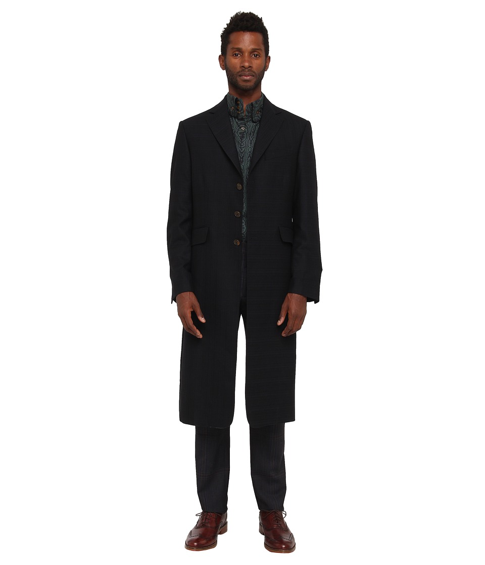 Vivienne Westwood MAN - Classic Wool Long Front Jacket (Black) Men's Jacket