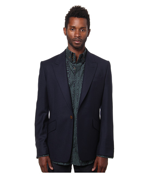 Vivienne Westwood MAN - Classic Flannel Jacket (Navy) Men's Jacket
