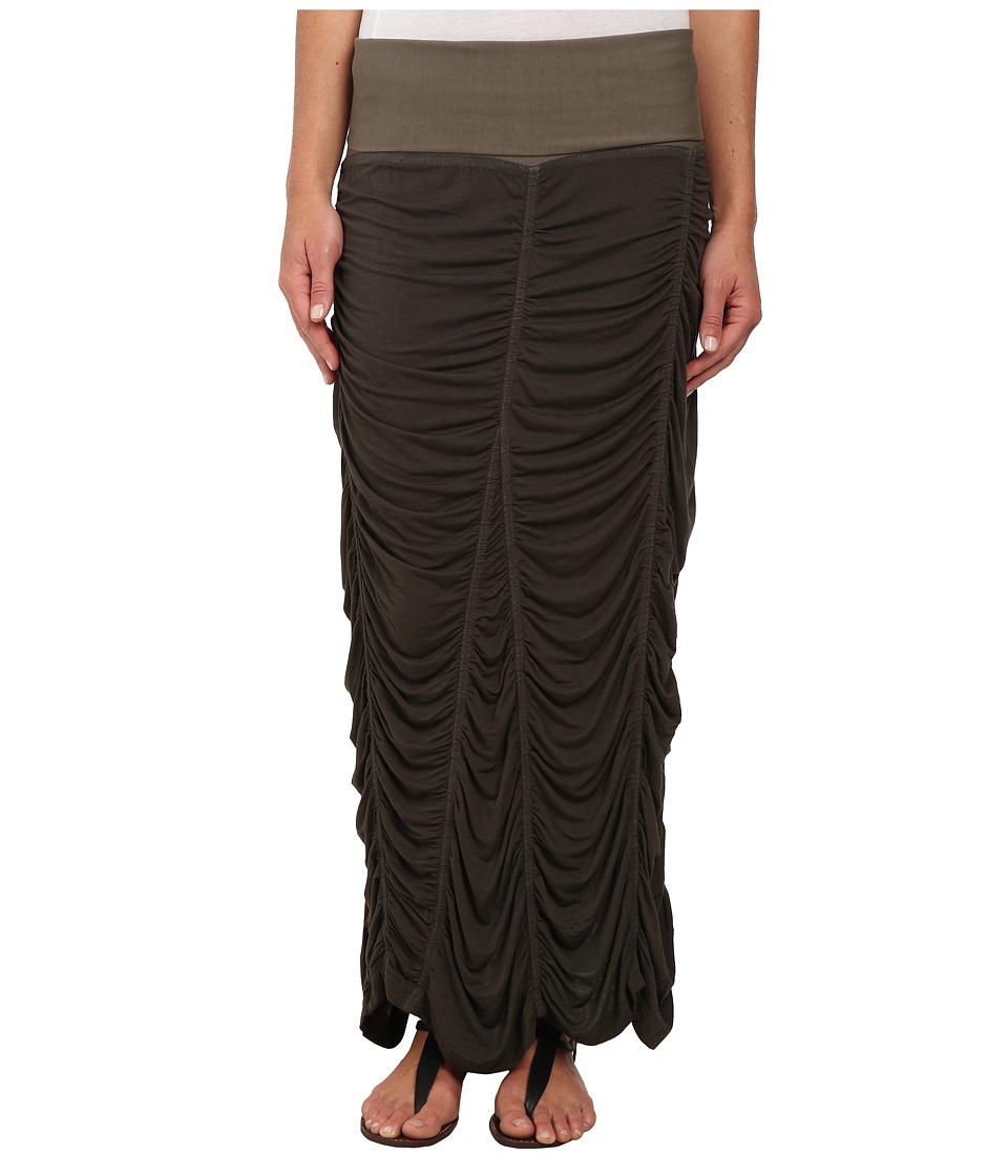 XCVI - Jersey Peasant Skirt (Silt) Women's Skirt