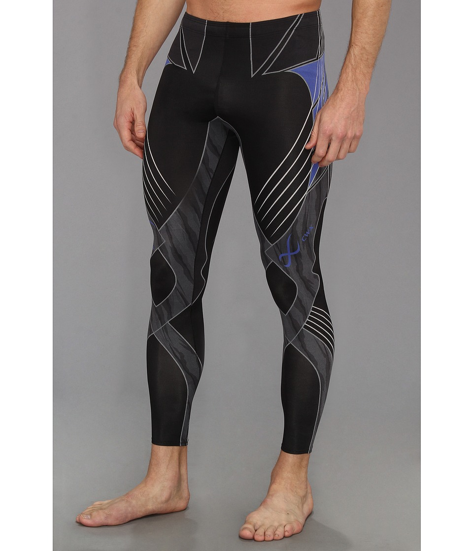 CW-X - Revolution Tight (Black/Blue) Men's Workout